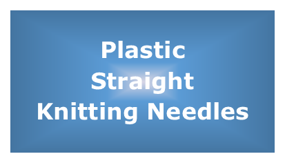 Plastic Straight Knitting Needles