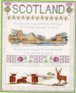 Scotland Sampler (Counted Cross Stitch)