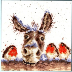 Christmas Donkey (Counted Cross Stitch Kit]