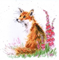 Amongst the Foxgloves (Counted Cross Stitch kit)
