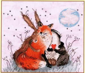Peace and Huggles (Counted Cross Stitch Kit)