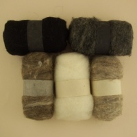 Felting Fibre - Natural Assortment