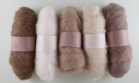 Felting Fibre - Beige Assortment