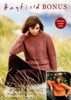 Knitting Pattern - Hayfield 8227 - Bonus Aran Tweed - Sweater