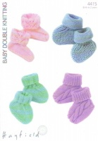Knitting Pattern - Hayfield 4415 - Baby DK - Bootees