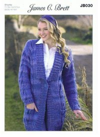 Knitting Pattern - James C Brett JB030 - Chunky - Jacket