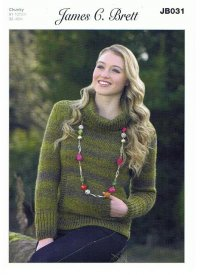 Knitting Pattern - James C Brett JB031 - Chunky - Sweater