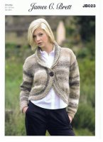 Knitting Pattern - James C Brett JB023 - Chunky - Bolero