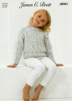 Knitting Pattern - James C Brett JB561 - Tranquil Chunky - Cardigan & Sweater