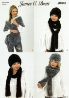 Knitting Pattern - James C Brett JB540 - Chinchilla - Accessories