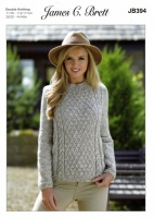Knitting Pattern - James C Brett JB394 - Misty DK - Sweater