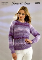 Knitting Pattern - James C Brett JB512 - Northern Lights DK - Sweater
