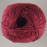 James C Brett - Rustic Aran Tweed - 30 Rich Red Multi-Fleck