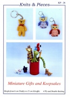 Knitting Pattern - Knits & Pieces KP26 - 4 Ply & DK - Miniature Gifts and Keepsakes