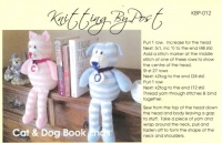Knitting Pattern - Knitting By Post 012 -DK - Cat & Dog Bookends