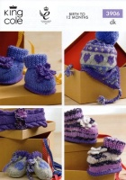 Knitting Pattern - King Cole 3906 - DK - Baby Accessories