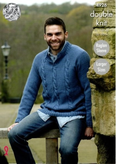 Knitting Pattern - King Cole 4926 - Majestic DK - Men's Sweaters