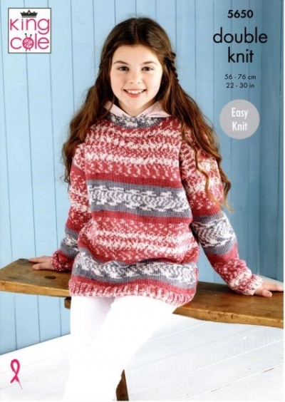 Knitting Pattern - King Cole 5650 - Fjord DK - Sweater & Hoodie