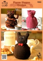 Knitting Pattern - King Cole 9002 - DK - Cat, Pig & Dog Cosies