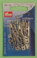 Safety Pins - Steel - Assorted Sizes