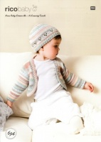 Knitting Pattern - Rico 694 - Baby Dream DK - Cardigan and Hat