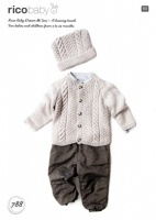 Knitting Pattern - Rico 788 - Baby Dream DK Uni - Cardigan and Hat