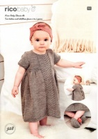 Knitting Pattern - Rico 928 - Baby Classic DK - Babies Dress, Headband and Slippers