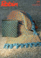 Knitting Pattern - Robin 3002 - Firecracker Super Chunky - Throw & Cushion Cover