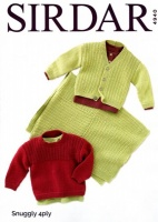 Knitting Pattern - Sirdar 4940 - Snuggly 4 Ply - Sweater, Cardigan & Blanket