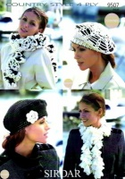 Knitting Pattern - Sirdar 9507 - Country Style 4 Ply - Beret & Scarves
