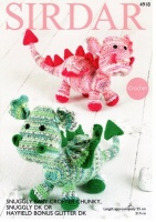 Knitting Pattern - Sirdar 4918 - Snuggly Baby Crofter Chunky and Snuggly DK - Dragons