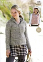 Knitting Pattern - Sirdar 9887 - Freya - Jacket & Gilet