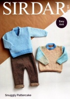 Knitting Pattern - Sirdar 5190 - Snuggly Pattercake DK - Round Neck and V Neck Sweaters