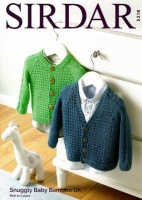 Knitting Pattern - Sirdar 5218 - Snuggly Baby Bamboo DK - Boy's Cardigans