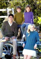 Knitting Pattern - Sirdar 7396 - Harrap Tweed DK - Family Sweaters