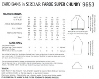 Sirdar féroé super chunky-modèle no 9653-cardigans