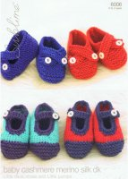 Knitting Pattern - Sublime 6006 - Baby Cashmere Merino Silk DK - Deck Shoes & Pumps