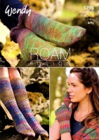 Knitting Pattern - Wendy 5795 - Roam 4 Ply - Socks & Mitts