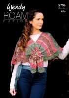 Knitting Pattern - Wendy 5796 - Roam 4 Ply - Lace Shawl