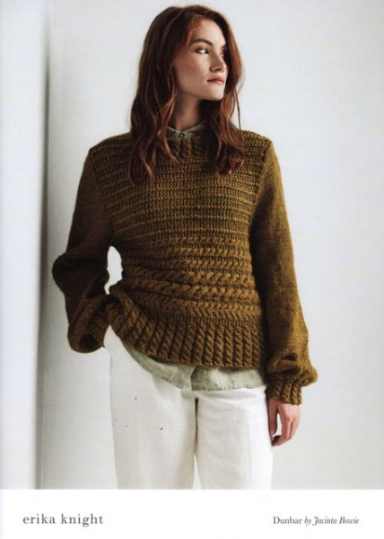 2f9be7cd071f67 Cottontail Crafts - Erika Knight Knitting Pattern - Dunbar - Sweater ...