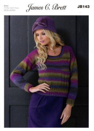 a6e832a38f5ac Cottontail Crafts - Knitting Pattern JB143 for a Ladies Sweater in ...