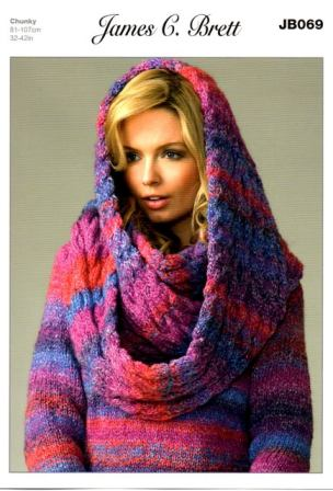 a9862ab22e5a6 Cottontail Crafts - Knitting Pattern JB069 - Ladies Sweater   Snood ...