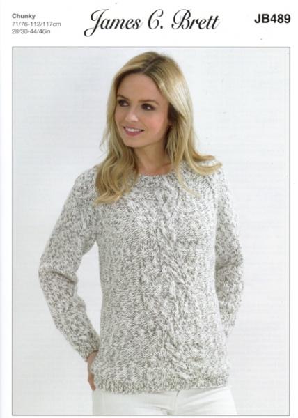 cd49df1c8 Cottontail Crafts - James C Brett Knitting Pattern JB489 - Ladies ...