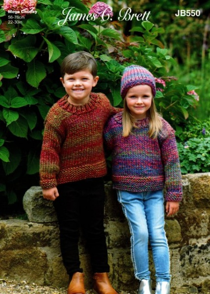 25736cf0547 Cottontail Crafts - Knitting Pattern JB550 - Sweater   Hat in James ...