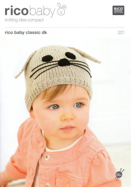 f5f9eb966cb Cottontail Crafts - Knitting Pattern 201 - Children s Hats in Rico ...