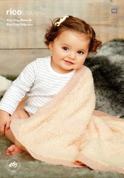 66629819f44 Cottontail Crafts - Knitting Pattern 465 - Blankets in Rico Baby ...