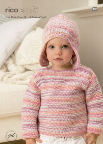 07b2b2c0020 Cottontail Crafts - Knitting Pattern 516 - Hat   Sweater for Baby in ...