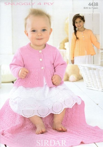 5d4014f73f81 Cottontail Crafts - Knitting Pattern 4438 - Cardigans   Blanket in ...