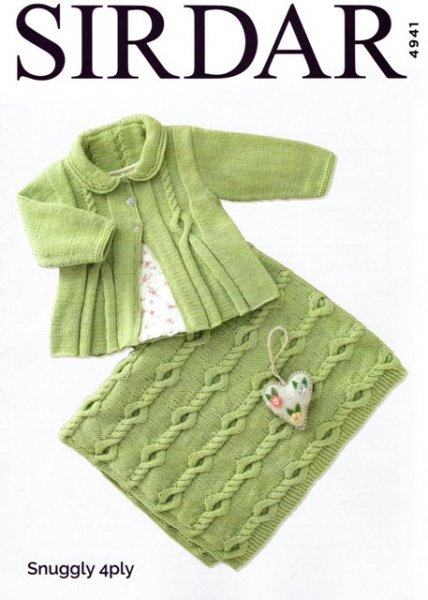 52de0e0171e2 Cottontail Crafts - Knitting Pattern 4941 - Baby Girl s Matinee Coat ...