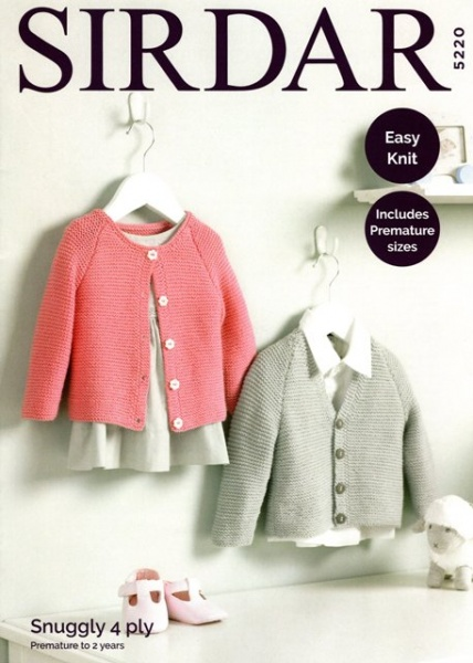 c705dc2fd Cottontail Crafts - Knitting Pattern 5220 - Baby s Cardigans in ...